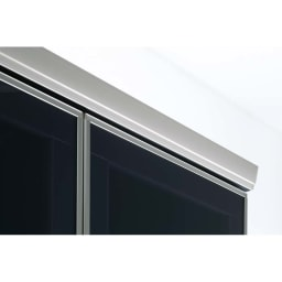 ラグジュアリー壁面コレクションキャビネット40左開き<パモウナ VD-405L> 天板全面も高級アルミ仕上げ
