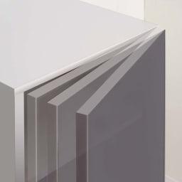 ラグジュアリー壁面コレクショキャビネット40右開き[パモウナ VD-405R] ◎扉用ダンパー 閉まる手前でクッションが効き、その後ゆっくり吸い込まれるように閉まります。