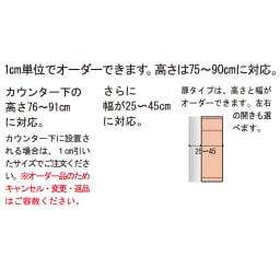 サイズオーダー薄型収納 幅・高さEO隠し引き出し奥行25cm右開き 1cm単位でオーダーできます。