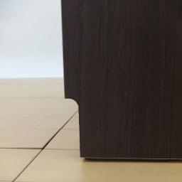 ナチュラル天然木風キッチンストッカー チェスト幅61.5cm 幅木カットイメージ