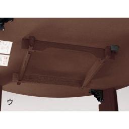 組立不要!ナラ天然木折れ脚まぁるいこたつテーブル(オーバル型) ヒーターは取り外すことが可能です。