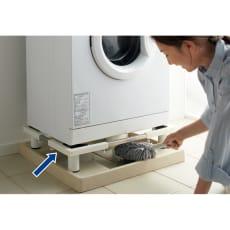 ステンレス洗濯機置き台・底上げタイプ