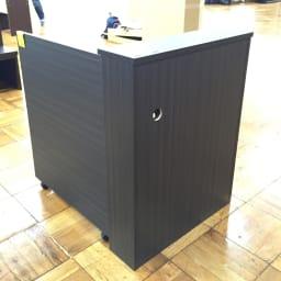 折り畳み収納型デスク 畳むんデス プチ (イ)ダークブラウン 背面