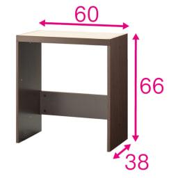 壁面いっぱいに収められるリビングカウンター収納シリーズ 下台 チェアワゴンタイプ 幅60cm [パモウナ YA-62・YA-64W] ワゴンを収納するボックス。ボックスと天板を連結して使用します。