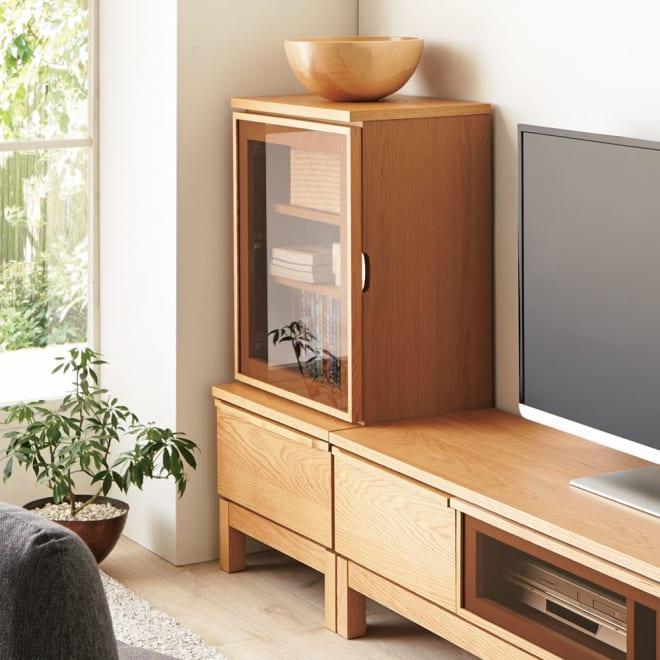 ミニマムライフテレビボード キャビネット 幅50cm (ア)ナチュラル お届けは キャビネット 幅50cmとなります。