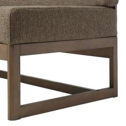 天然木ダイニングこたつテーブルシリーズ ソファ(アームなし) オフシーズンは座面の底面に収納できます