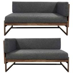 天然木ダイニングこたつテーブルシリーズ ソファ(片アーム付き) アームは左右どちらにも取付可能です。