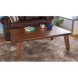 【3長方形】120×80cm 木の風合いで選べる平面パネルこたつテーブル (イ)ダークブラウン 天然木の美しい木目と、北欧風のデザインが自慢です。
