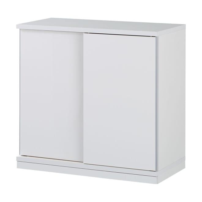 隠しキャスター付き すっきり引き戸カウンター 棚タイプ 幅87.5cm高さ85cm 生活感をスッキリと隠せる、引き戸式のカウンターです。