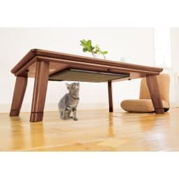 【3長方形】120×80cm 木の風合いで選べる平面パネルこたつテーブル (イ)ダークブラウン