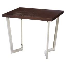 コンパクトモダンダイニング テーブル 幅85cm (イ)ダークブラウン