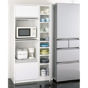 食器に合わせて選べる食器棚 幅35cm奥行42cm高さ180cm 写真