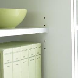 マンションにもぴったり引き戸式壁面収納本棚 扉 幅90奥行35cm 3cmピッチ調節の棚板 本の大きさにあわせて簡単に調節可能。効率よく収納できます。