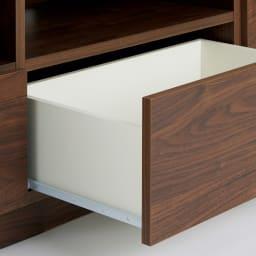 幅が10cm単位で選べるテレビ台 幅160cm 収納物の出し入れスムーズなスライドレール付き。