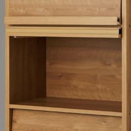 天然木調ディスプレイブックシェルフ 幅60高さ108cm 大判の事典やLPレコードも収納可。