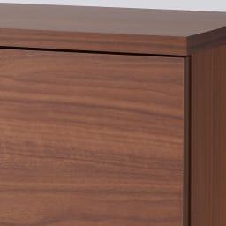 全部引き出し カウンター下収納庫 幅160cm (イ)ブラウン 木目が美しく上品で高級感があります。