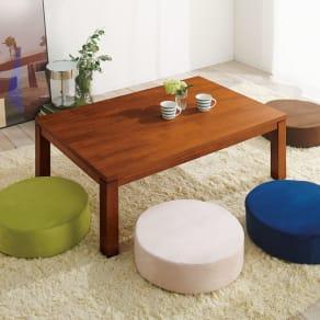 天然木モダン継ぎ脚こたつテーブル 長方形 幅120×奥行80cm 写真