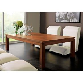天然木モダン継ぎ脚こたつテーブル 長方形 幅150×奥行90cm 写真