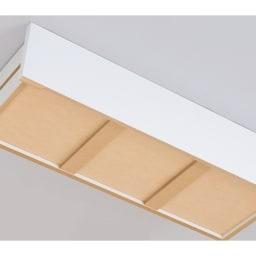引き出し内部&背面化粧仕上げチェスト 幅45cm・奥行45cm 引き出し全段に補強材を入れ床板の強度をアップ。