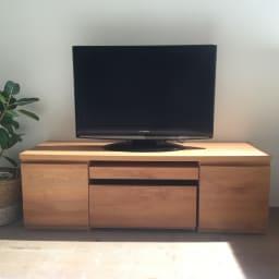 アールデザインローデスク 幅95cm ワゴン付きタイプ テレビ台(リビングボード)としての使用もおススメ。(ア)ナチュラル ※写真はデスク幅127cm(ワゴン付き)です。