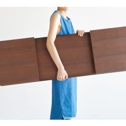 Slim スリム すっきり折りたたみ可能なリビングテーブル 幅120奥行40cm コンパクトに折りたため、軽量なので持ち運びもラクラク。急な来客時にもすぐに出せて重宝します。