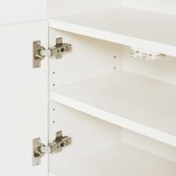 置くだけでカウンター 幅120天板奥行38cm 扉内には3cm間隔で可動できる棚板付き。