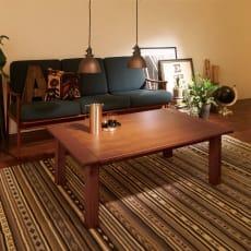 ウイスキーオークこたつテーブル 長方形 幅120×奥行75cm