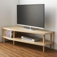 どの場所からでもテレビが見やすいコーナーテレビ台 幅120cm 左コーナー用(左側壁用)