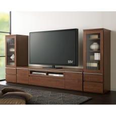 ウォルナット調テレビボード テレビ台・幅180高さ42cm