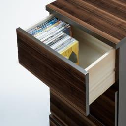 光沢引き戸テレビボード テレビ台 幅89cm DVDなどをたっぷり収納できる引き出し3杯。
