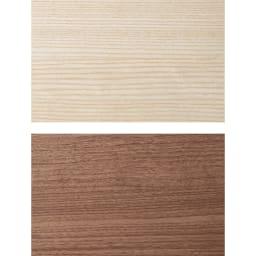 薄型折りたたみ収納デスクシリーズ 2枚扉 木目を感じるホワイトとシックなブラウン系。 ※上から(ア)ホワイト(木目) (イ)ダークブラウン
