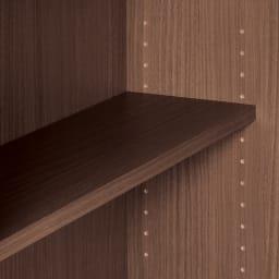 薄型折りたたみ収納デスクシリーズ 2枚扉 可動棚板は3cmピッチ調節可能。