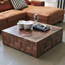 PHILOS/フィロス ウォルナット天然木リビング フロアテーブル