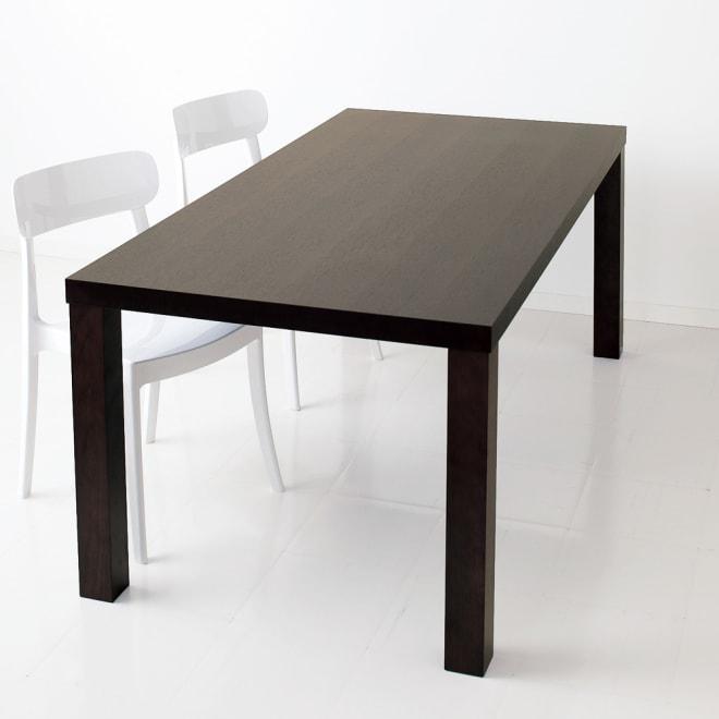 Multi マルチダイニングテーブル ウッドレッグタイプ 幅180cm ビターチョコレートのような深みのある濃い茶色。シックなスタイリングに。 ※お届けはテーブル幅180cmです。