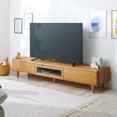 丸い角が優しいテレビ台 幅180cm