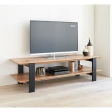 オーク天然木オープンテレビボード 幅150cm