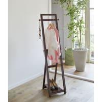 天然木折りたたみハンガー シングル 幅35cm