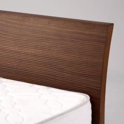 Simmons シモンズ カーブ引き出し収納ベッド 6.5インチ ゴールデンバリューマットレス(GV) 柔らかなカーブが施されたヘッドボードは、表面の凹凸にも特徴があります。