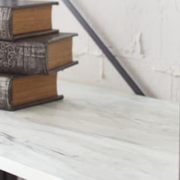 Ethica/エティカ 大理石調スチールラック 幅64cmロータイプ 注目のトレンド大理石調素材 美しいマーブル模様がエレガント。大理石の風合いをリアルに再現。