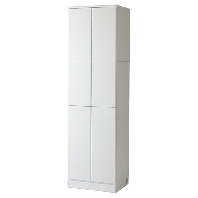 LDK壁面収納(高さ200cm) 扉タイプ 幅58cm (ア)ホワイト(光沢無地)