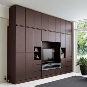 LDK壁面収納(高さ180cm) テレビ台 ミドル 幅121cm 写真