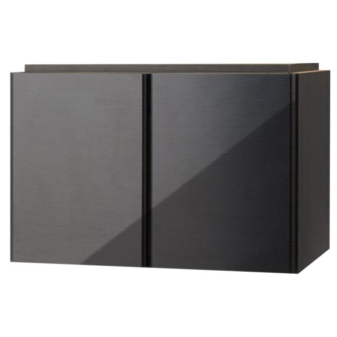 LDK壁面収納 オーダー対応突っ張り式 上置き(奥行45cm)幅58cm・高さ26~90cm (ウ)ブラック(横木目調) ※写真は幅58cmタイプです。