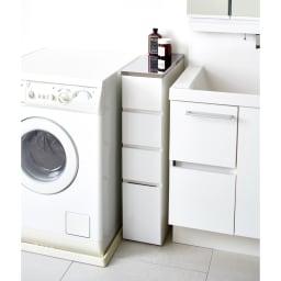 Divario(ディバリオ) すき間収納チェスト 幅25cm 洗面所のすき間にぴったりの収納チェストです。(※写真は幅20cmタイプ)
