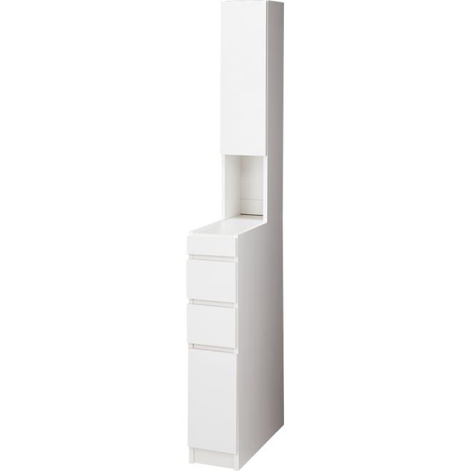 組立不要 大理石調ダブル天板すき間収納庫 ハイタイプ 幅20cm・奥行55cm シンプルなデザインはどんなキッチンにも設置できます。扉は左右どちら開きにも設定可能。