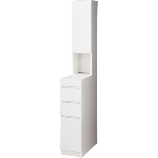 組立不要 大理石調ダブル天板すき間収納庫 ハイタイプ 幅25cm・奥行55cm シンプルなデザインはどんなキッチンにも設置できます。扉は左右どちら開きにも設定可能。