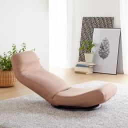 特許を取得した腰に優しい回転座椅子 ハイタイプ (ア)ベージュ