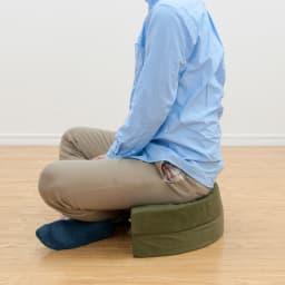 座部高さが変えられる 二つ折りできる丸クッション お得な同色2個組 あぐら椅子としても。