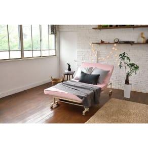 収納式リクライニングベッド 写真