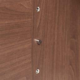 Texture/テクスチャー テレビ台キャビネット ウォルナット 幅98cm 可動できる棚板は安定感のあるねじ込み式です。