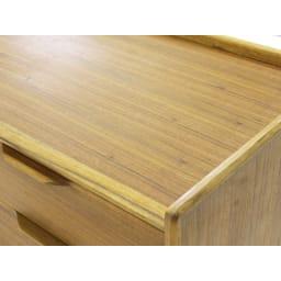 EDDA/エッダ 北欧スタイル 3段チェスト 幅100cm 北欧ヴィンテージ家具に特徴的な筆返しのようなデザイン